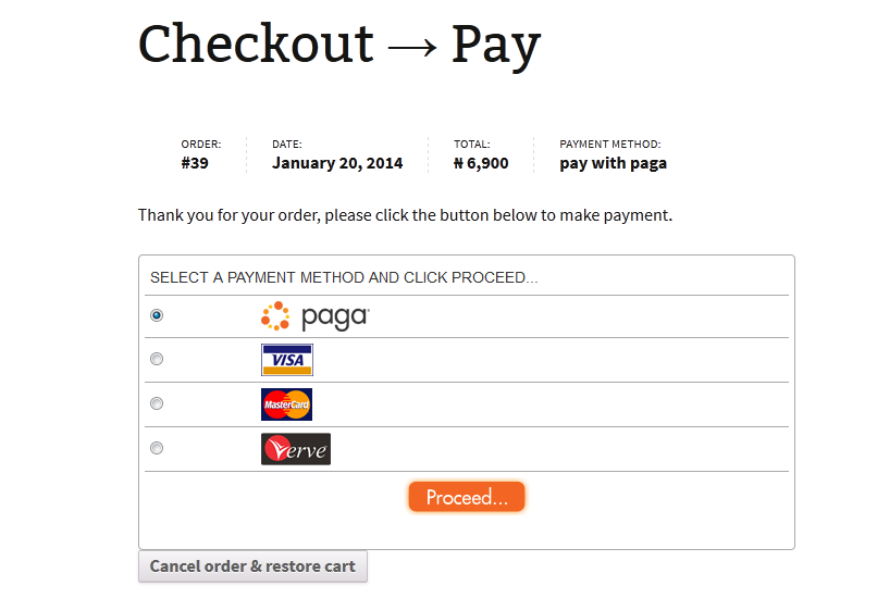 sneak peek paga payment gateway for wc